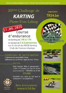 Karting Table Ronde de Hannut 2016